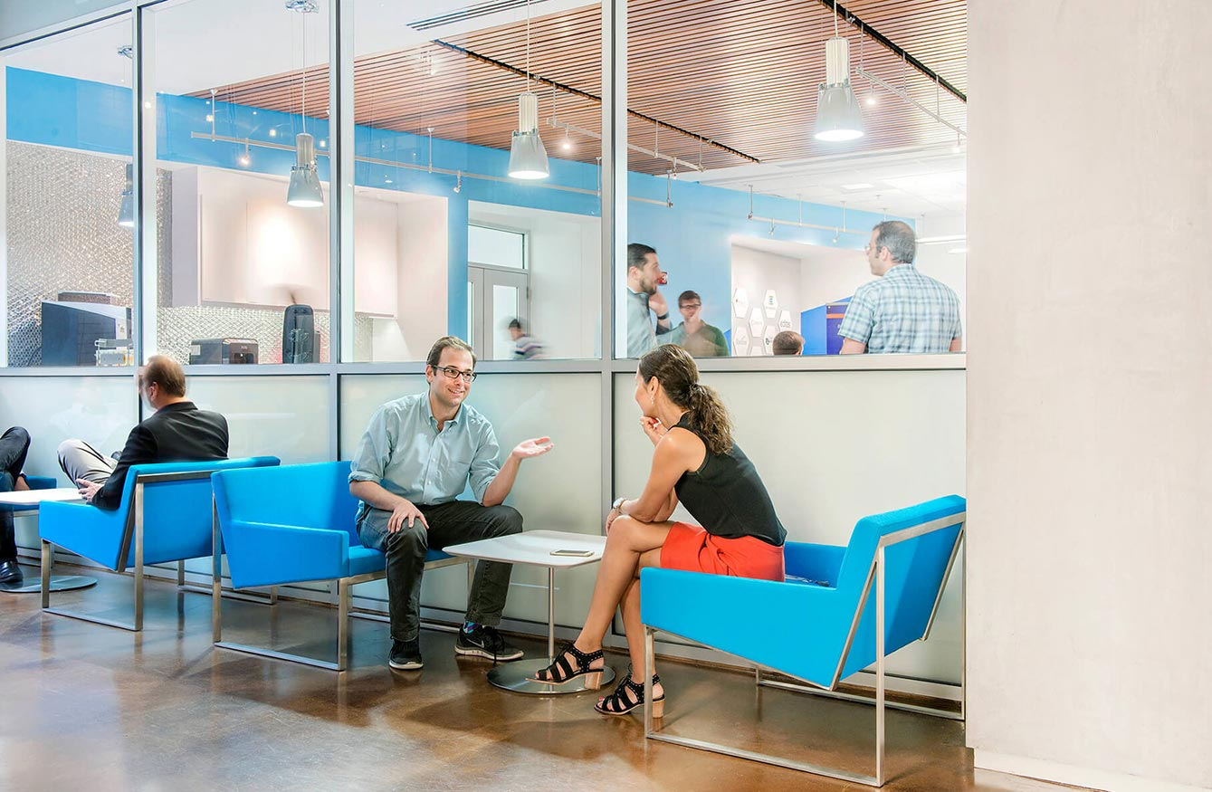 Collaborative meeting and relaxation spaces with SmartLabs